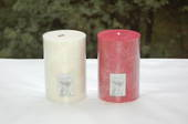 Candle - pillar 10x15 Red, Cranberry fragrance