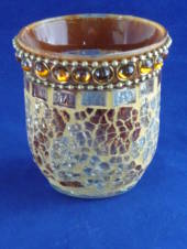 Gold Mosaic tea light/votive holder